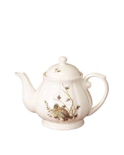 Melrose Partridge Coder Teapot, Cream