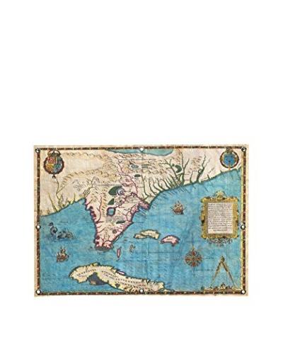 Map of Florida & Cuba (1588) by Jacques Le Moyne De Morgues Canvas Print