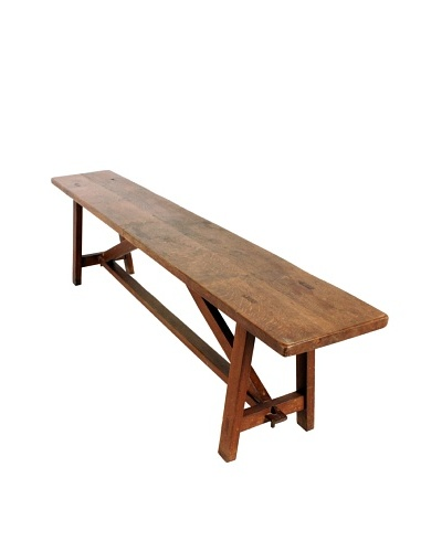 French Farmhouse Bench, Brown