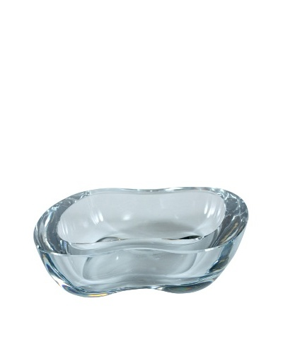 Italian Art Glass Dish, Clear