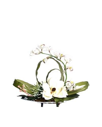 Magnolia Orchid Tray [White/Green/Silver]