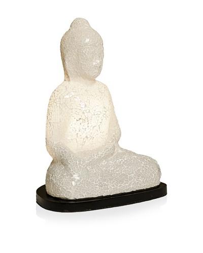 Sitting Buddha Mosaik Lamp, White