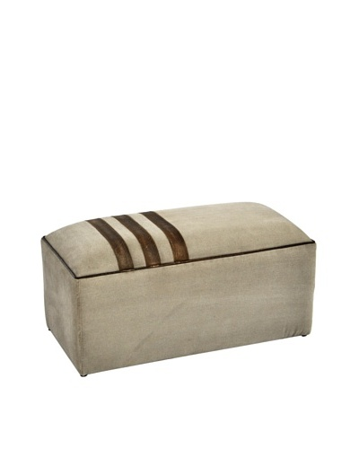 Buckingham Ottoman, Tan/Brown