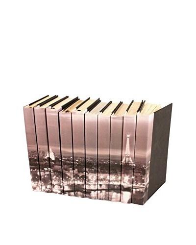 Set of 10 Image Collection Paris Skyline Books, Grey/Black/White
