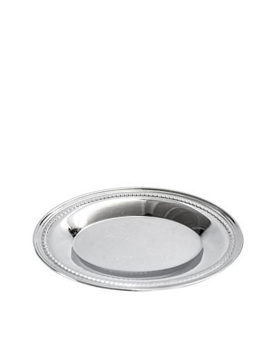 Vintage Oval Silver Serving Tray, c.1960s