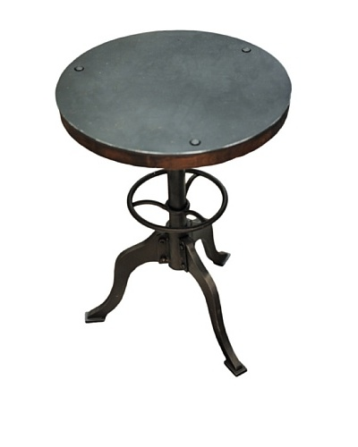 Iron Industrial Accent Table