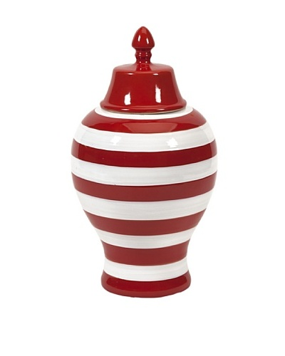 Hudson Striped Lidded Urn