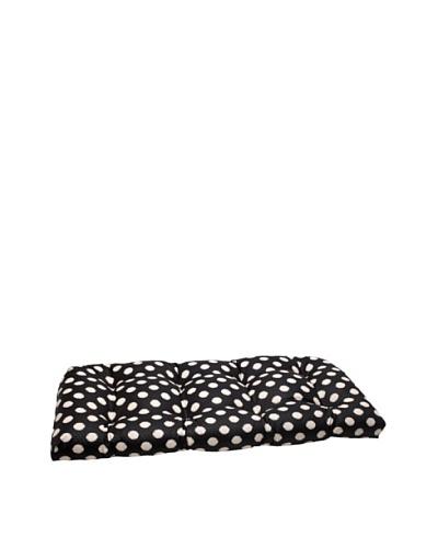 Waverly Sun-n-Shade Solar Spot Ebony Wicker Loveseat Cushion [Black/Cream]