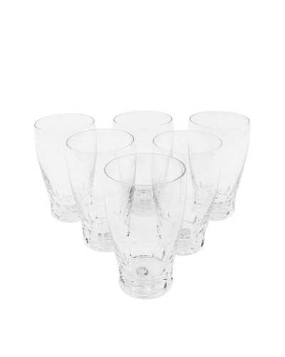 Set of 6 St. Lambert Crystal Water Glass, Clear