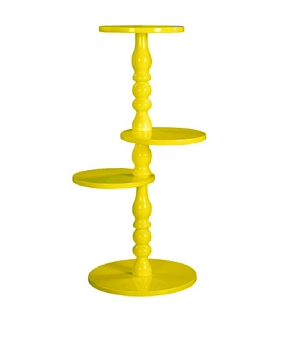 Rotating Round Table, Yellow