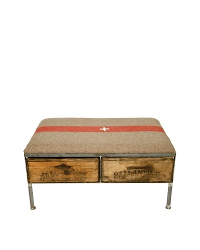 Nicolas Large Box Repurposed Crate Storage Bench