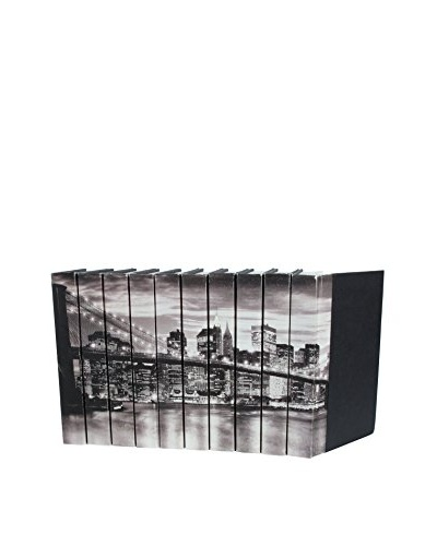 Set of 10 Image Collection Brooklyn Bridge, Black/White