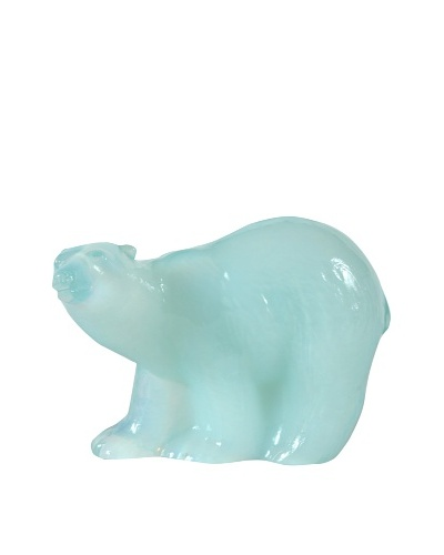 Polar Bear Glass Figurine WWF, White