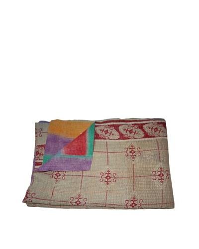"Vintage Navneet Kantha Throw, Multi, 60"" x 90"""