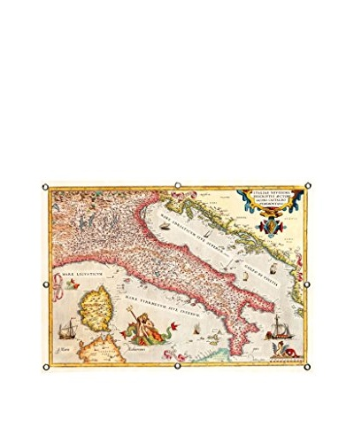 Antique-Inspired Map of Italy Canvas Print