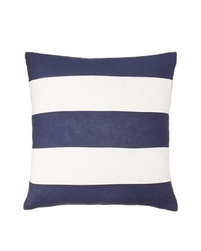 Bold Stripe Throw Pillow, Navy/Off-White, 18 x 18