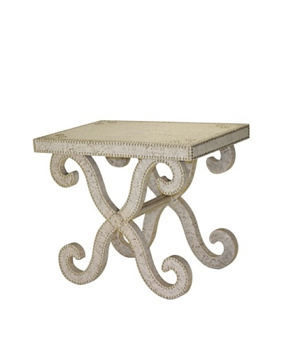 Lisbon Accent Table, White