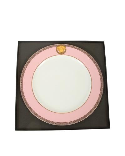 Versace Ikarus Medusa Service Plate, Pink/White/Gold