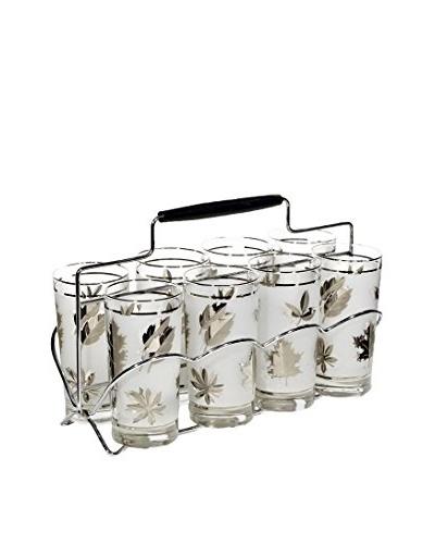 1960s 9-Piece Silver Leaf Beverage Set