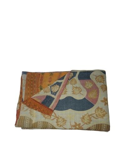 Vintage Navneet Kantha Throw, Multi, 60 x 90