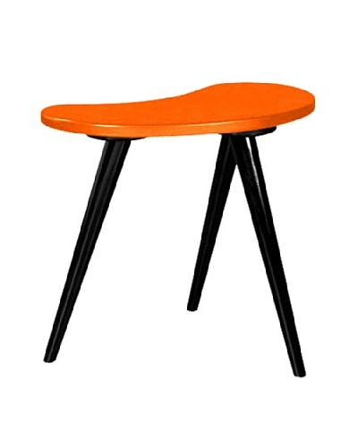 Small Curve Side Table, Orange