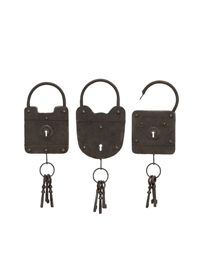Set of 3 Decorative Locks & Keys