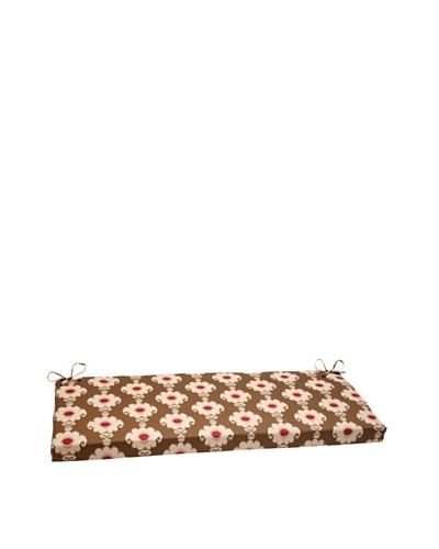 Waverly Sun-n-Shade Rise and Shine Henna Bench Cushion [Red/Brown/Tan]