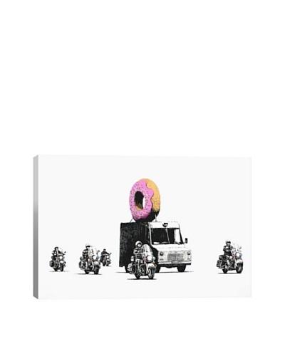 Banksy Donut Police Canvas Print