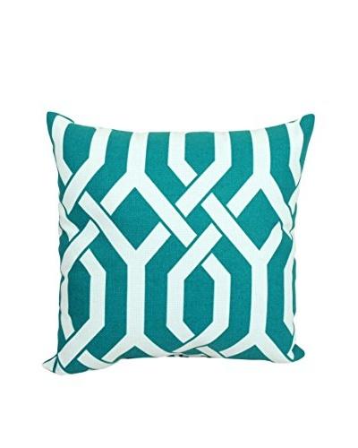 Slick Aquamarine Indoor/Outdoor Throw Pillow