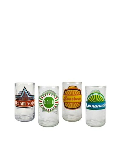 Set of 4 Upcycle 12-Oz. Fun In The Sun Glasses