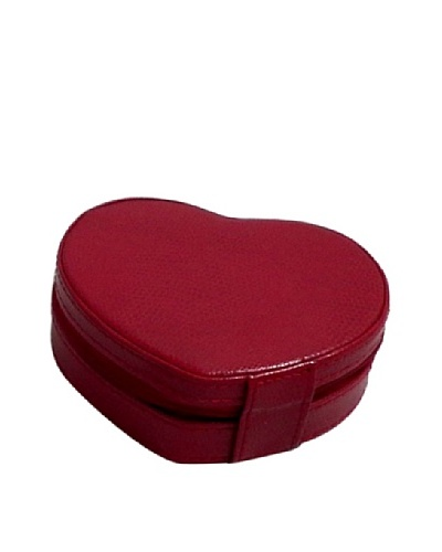 Heart Shaped Travel Jewelry Storage, Red