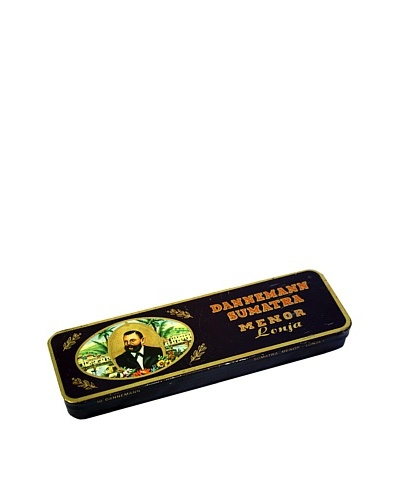 Vintage Dannemann Sumatra Menor Lonja Tin, Brown/Gold