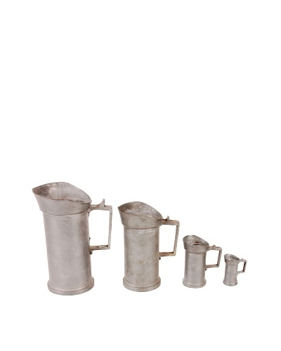 Vintage German Pewter Measuring Cups, Set of 4