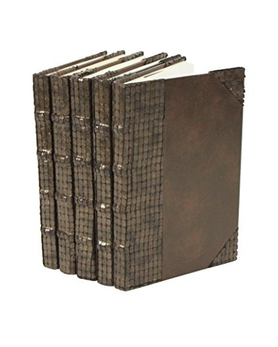 Set of 5 Exotics Collection Books, Eel/Brown