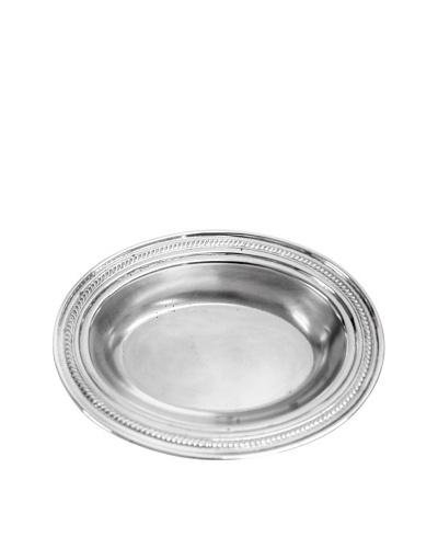 Vintage Silver Deep Oval Serving Platter, c.1950s