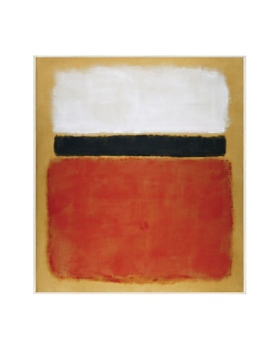 Mark Rothko: Untitled (Red, Black, White on Yellow)