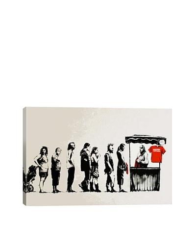 Banksy Destroy Capitalism Canvas Print