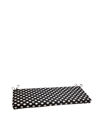 Waverly Sun-n-Shade Solar Spot Ebony Bench Cushion [Black/Cream]