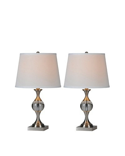 Set of 2 Covelo Lamps, Chrome
