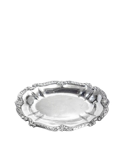 Vintage Sheridan Silver Co. Footed Oval Serving Tray, c.1950s