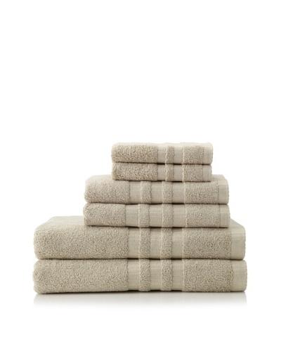 6-Piece Bath Towel Set, Taupe