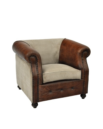 Berkeley Club Chair, Tan/Brown