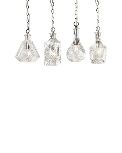 Set of 4 Vintage Decanter Pendant Lights