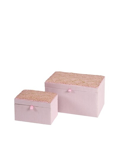 Set of 2 Beaded Pink BoxesAs You See