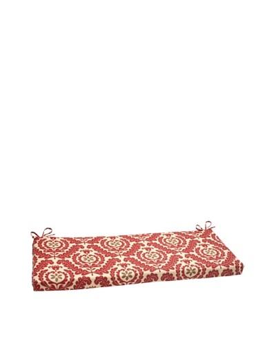 Waverly Sun-n-Shade Meridian Henna Bench Cushion [Red/Brown/Tan]
