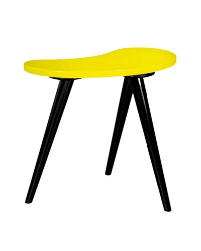 Small Curve Side Table, Yellow