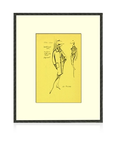 Print of La Roche Women's Fashion Sketch Circa 1968
