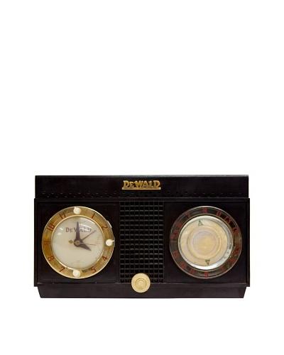 Vintage DeWald Radio, Brown, 6x10.5x6.5