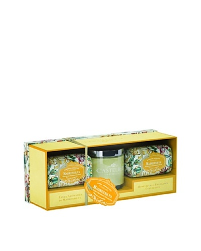 Castelbel Ambiante Honeysuckle Soap & Candle Gift Set