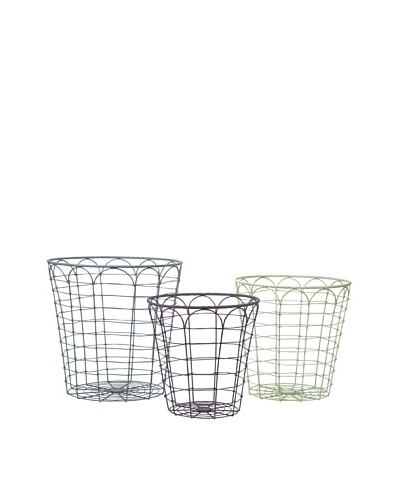 Set of 3 Assorted Connor Metal Baskets
